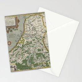 Vintage Map - Ortelius: Theatrum Orbis Terrarum (1606) - Gallia Belgica; Belgium & the Netherlands Stationery Cards