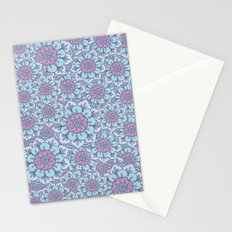 Blue floral Stationery Cards