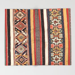 Salé  Antique Morocco North African Flatweave Rug Print Throw Blanket