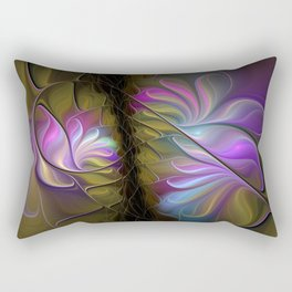 Come Together, Abstract Fractal Art Rectangular Pillow
