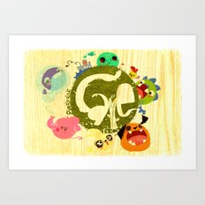 CARE - Love Our Earth Art Print