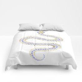 Snake Skeleton – Periwinkle & Gold Comforters