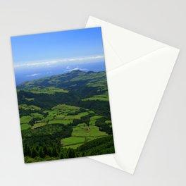 Green coastal landscape Stationery Cards