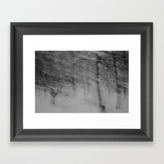 {come closer and see, see into the trees} Framed Art Print