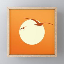 Seagull Sunset Framed Mini Art Print