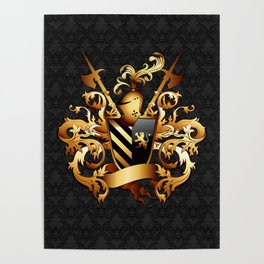 Medieval Coat of Arms Poster
