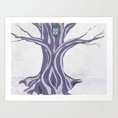 Owl in the Tree Art Print