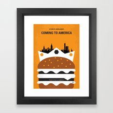 No402 My Coming to America minimal movie poster Framed Art Print