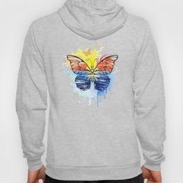 Butterfly with Painted Sea Hoody