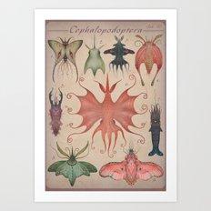 Cephalopodoptera Tab. V Art Print