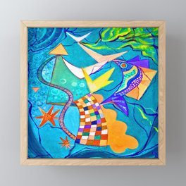 Emilia Bayer Abstract Sea Framed Mini Art Print