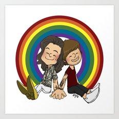 Rainbow Pals Art Print