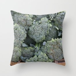 broccoli Flower in basket #food #society6 Throw Pillow