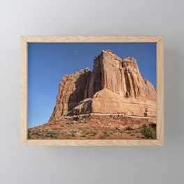 Courthouse Towers - Arches National Park Framed Mini Art Print