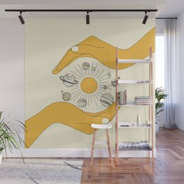 The Universe in Your Hands Wall Mural