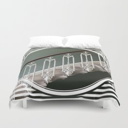 Stairway to Heaven - geometric circle Duvet Cover