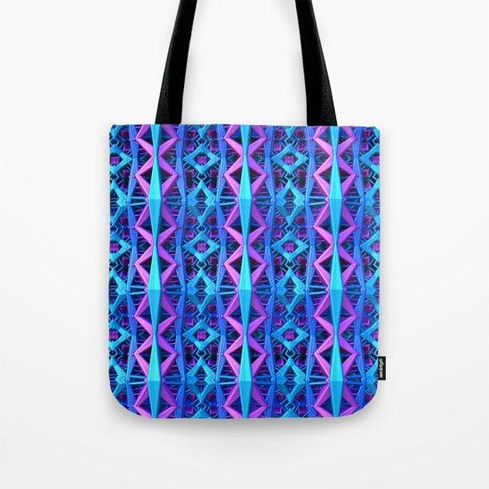 Blue/Purple Metallic Pattern Tote Bag
