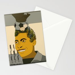 the king pele Stationery Cards