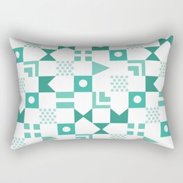 Pattern Pandemonium-Blue Rectangular Pillow