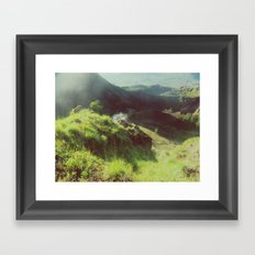 Smoky mountain Framed Art Print
