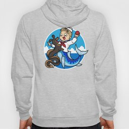 A Merboy and his Sea Dog Hoody