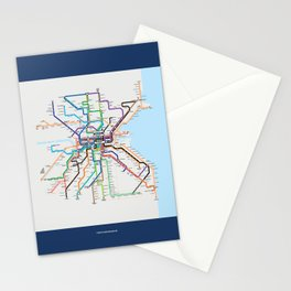 Dublin Frequent Transport Map V10 Stationery Cards