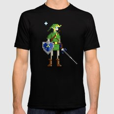 Pixel Link SMALL Black Mens Fitted Tee