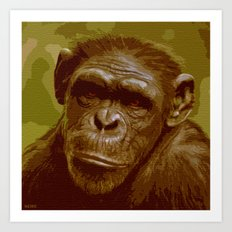 camo monkey! Art Print