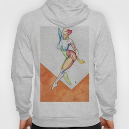 France, abstract female dancer, NYC artist Hoody