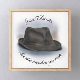 Hat for Leonard Cohen Framed Mini Art Print