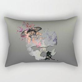 Butterflies in my Skull Rectangular Pillow