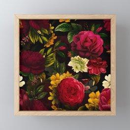 Mystical Night Roses Bouquet Framed Mini Art Print