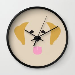 Golden Retriever Dog Illustration Wall Clock