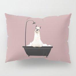 Llama in Bathtub Pillow Sham