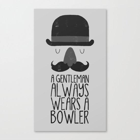 bowler hat Canvas Print