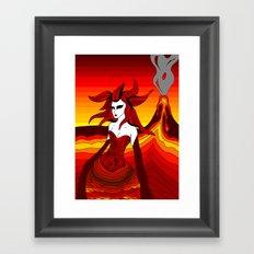 Elements - Fire Framed Art Print
