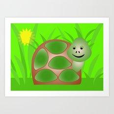 Little Turtle Art Print