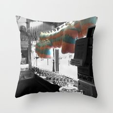 Coney Island Candy Store Cotton Candy Throw Pillow