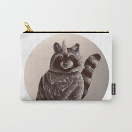 raccoonicorn // sepia raccoon unicorn Carry-All Pouch