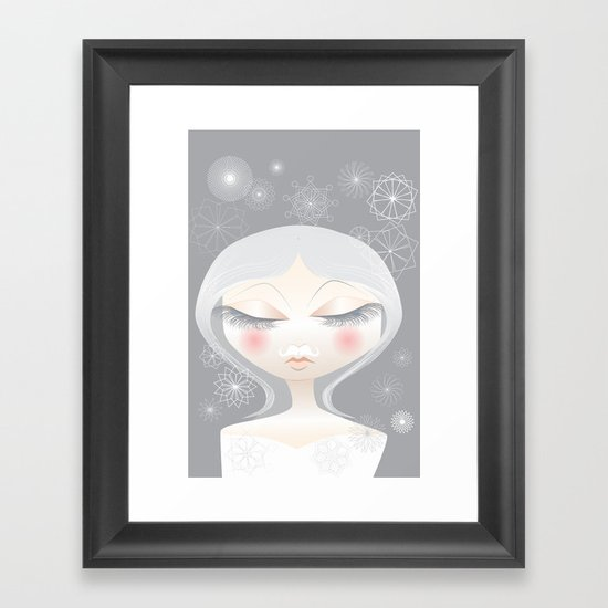 A Moustache From the SnowFall Framed Art Print