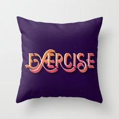 Exercise Throw Pillow