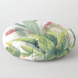 Cactus Watercolor Floor Pillow