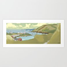 Roches Point Speedpainting Art Print