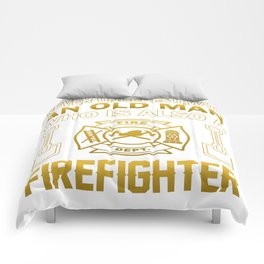 Old Man - A Firefighter Comforters
