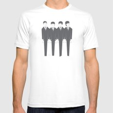 The Fab Four MEDIUM White Mens Fitted Tee
