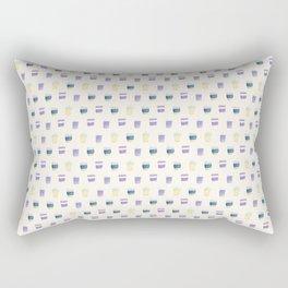 coffee cups pattern Rectangular Pillow