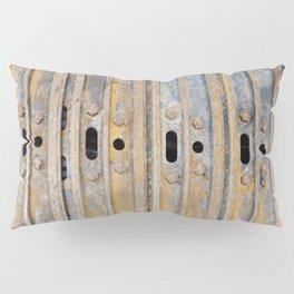 Rusty excavator caterpillar Pillow Sham