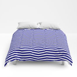 Australian Flag Blue and White Wavy Chevron Stripe Comforters
