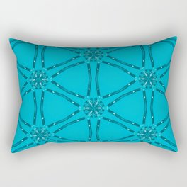 Blueish Rectangular Pillow
