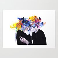 Art Prints featuring intimacy on display by agnes-cecile